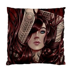 Beautiful Women Fantasy Art Standard Cushion Case (one Side)