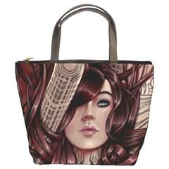 Beautiful Women Fantasy Art Bucket Bags