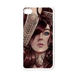Beautiful Women Fantasy Art Apple iPhone 4 Case (White)