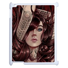 Beautiful Women Fantasy Art Apple iPad 2 Case (White)