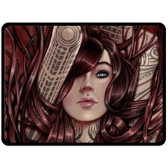 Beautiful Women Fantasy Art Double Sided Fleece Blanket (Large)