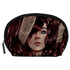 Beautiful Women Fantasy Art Accessory Pouches (Large)