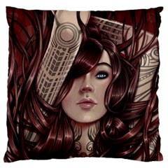 Beautiful Women Fantasy Art Large Flano Cushion Case (one Side)