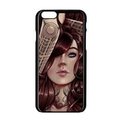 Beautiful Women Fantasy Art Apple Iphone 6/6s Black Enamel Case