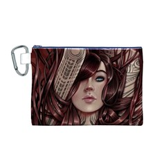Beautiful Women Fantasy Art Canvas Cosmetic Bag (M)