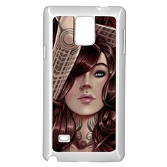 Beautiful Women Fantasy Art Samsung Galaxy Note 4 Case (white)