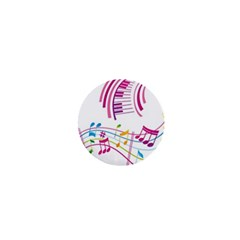 Musical Notes Pink 1  Mini Magnets