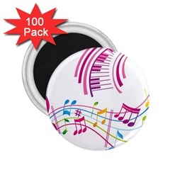 Musical Notes Pink 2.25  Magnets (100 pack)