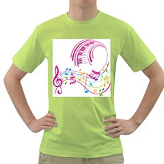 Musical Notes Pink Green T-Shirt