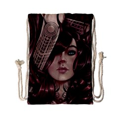 Beautiful Women Fantasy Art Drawstring Bag (small)