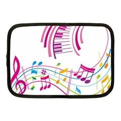 Musical Notes Pink Netbook Case (Medium)