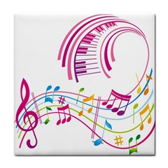 Musical Notes Pink Face Towel