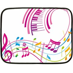 Musical Notes Pink Fleece Blanket (Mini)