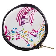 Musical Notes Pink Mini Makeup Bags