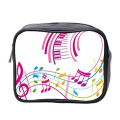 Musical Notes Pink Mini Toiletries Bag 2-Side