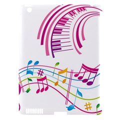 Musical Notes Pink Apple iPad 3/4 Hardshell Case (Compatible with Smart Cover)