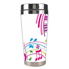 Musical Notes Pink Stainless Steel Travel Tumblers