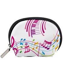 Musical Notes Pink Accessory Pouches (Small)