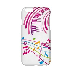 Musical Notes Pink Apple iPhone 6/6S Hardshell Case