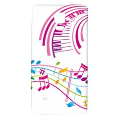 Musical Notes Pink Galaxy Note 4 Back Case