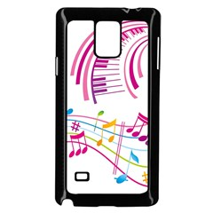 Musical Notes Pink Samsung Galaxy Note 4 Case (Black)