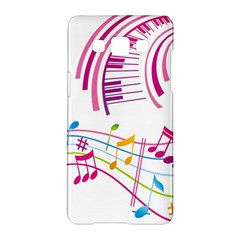 Musical Notes Pink Samsung Galaxy A5 Hardshell Case