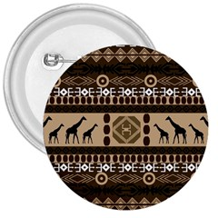 African Vector Patterns  3  Buttons