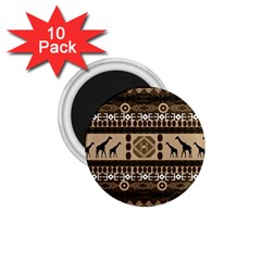 African Vector Patterns  1.75  Magnets (10 pack)