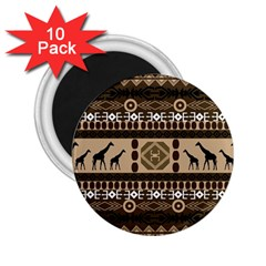 African Vector Patterns  2.25  Magnets (10 pack)