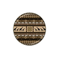 African Vector Patterns  Hat Clip Ball Marker (4 pack)