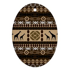 African Vector Patterns  Oval Ornament (two Sides)