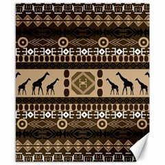 African Vector Patterns  Canvas 8  X 10