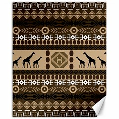 African Vector Patterns  Canvas 16  X 20