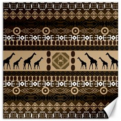 African Vector Patterns  Canvas 20  X 20
