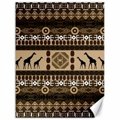 African Vector Patterns  Canvas 18  x 24