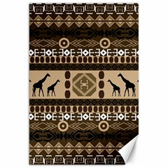 African Vector Patterns  Canvas 20  x 30