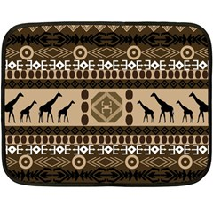African Vector Patterns  Double Sided Fleece Blanket (mini)