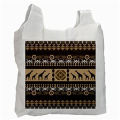 African Vector Patterns  Recycle Bag (Two Side)