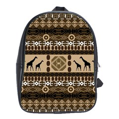 African Vector Patterns  School Bags(large)