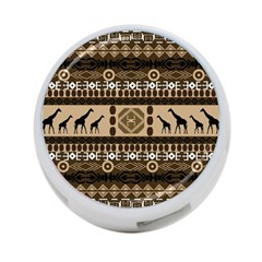 African Vector Patterns  4 Port Usb Hub (one Side)