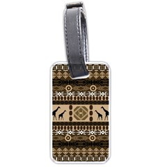 African Vector Patterns  Luggage Tags (two Sides)
