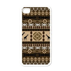 African Vector Patterns  Apple Iphone 4 Case (white)