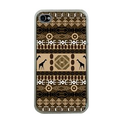 African Vector Patterns  Apple Iphone 4 Case (clear)