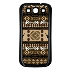 African Vector Patterns  Samsung Galaxy S3 Back Case (black)