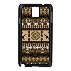 African Vector Patterns  Samsung Galaxy Note 3 N9005 Case (Black)