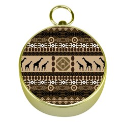 African Vector Patterns  Gold Compasses