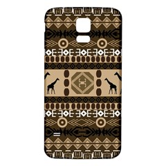 African Vector Patterns  Samsung Galaxy S5 Back Case (white)