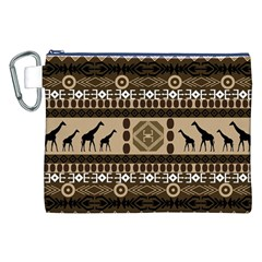 African Vector Patterns  Canvas Cosmetic Bag (xxl)