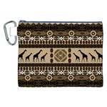 African Vector Patterns  Canvas Cosmetic Bag (XXL) Front