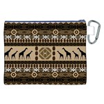 African Vector Patterns  Canvas Cosmetic Bag (XXL) Back